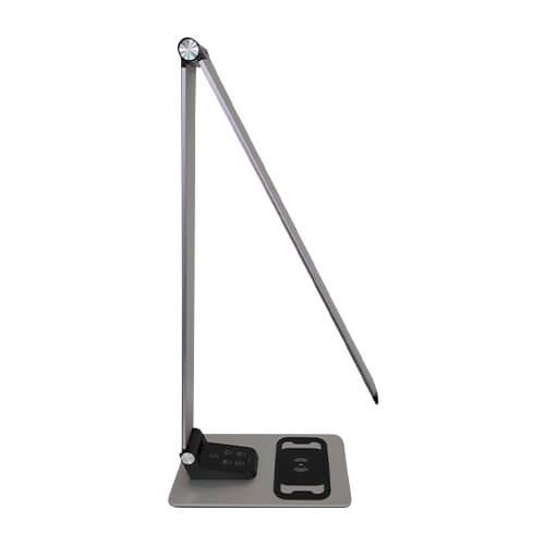 תאורת לד שולחנית מתקדמת כולל מטען לנייד וחיבור USB (5)